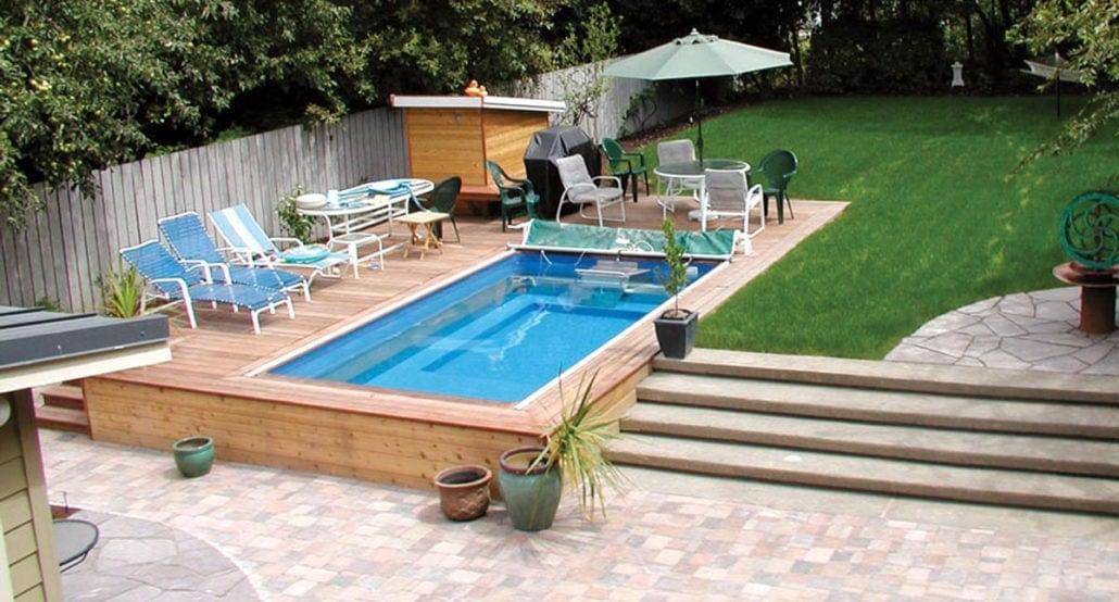 Endless Pools, Performance, inbyggt i trädäck utomhus