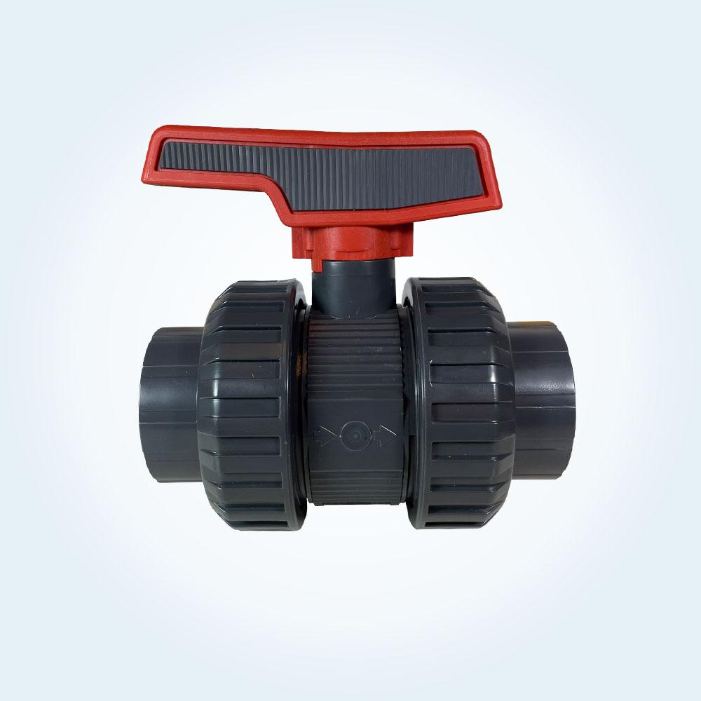 Kulventil i PVC för limning, 2-vägs, 50 mm