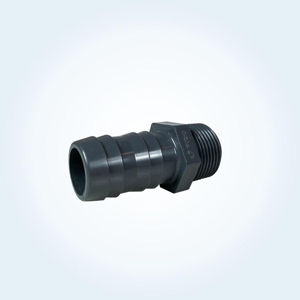 Tryckrör i PVC slangnippel 1 tum (utvändig) x 30 mm