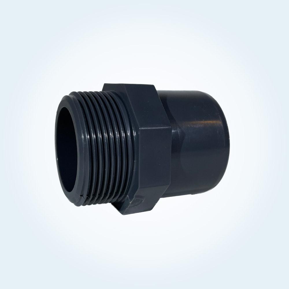 Tryckrör nippel i PVC, 50/40 mm x 1 1/2 tum