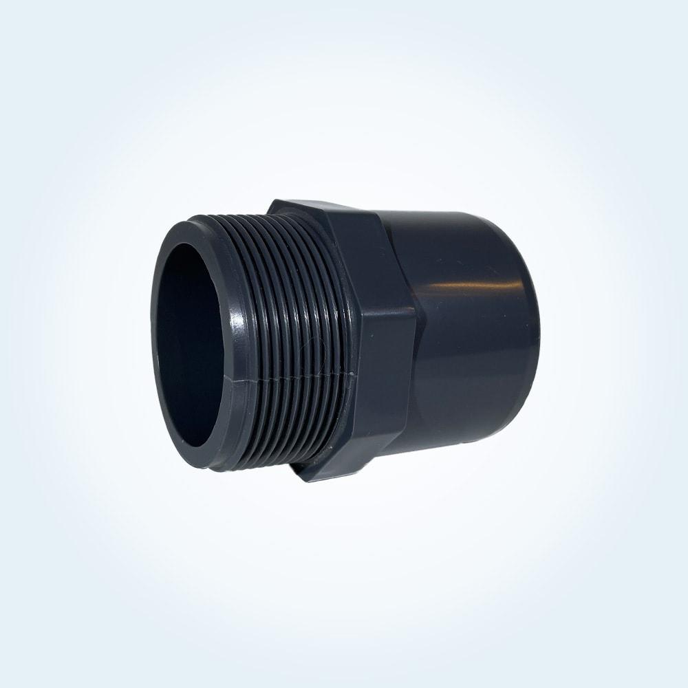 Tryckrör nippel i PVC. 50 mm x 2 tum