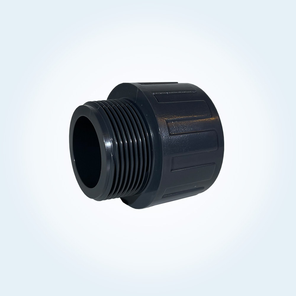 Tryckrör nippel i PVC, 50 mm x 1,5 tum