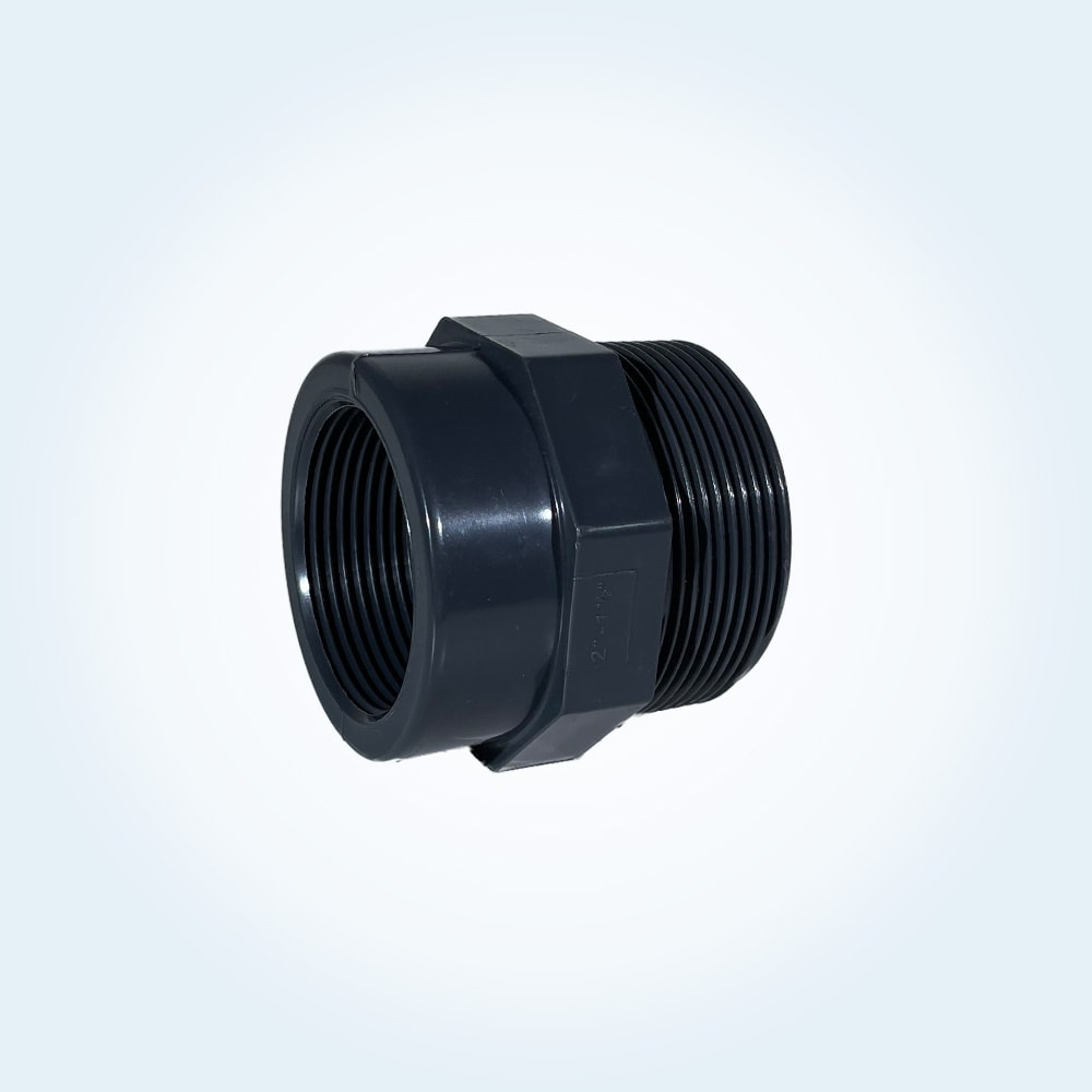 Tryckrör i PVC för reducering, 2 tum till 1,5 tum invändigt