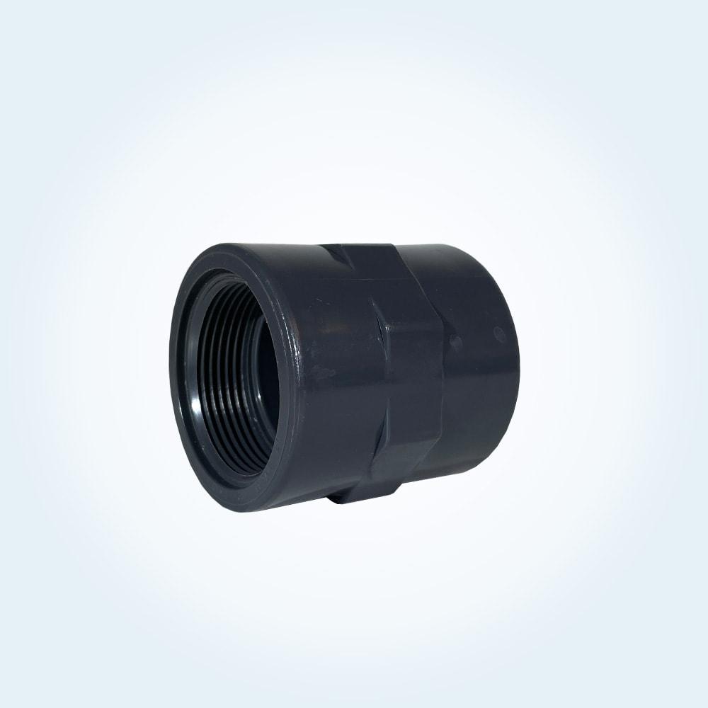 Tryckrör i PVC, skarvmuff, 1,5 tum