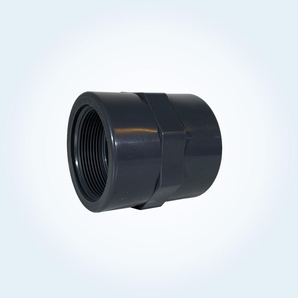 Tryckrör i PVC, skarvmuff, 2 tum