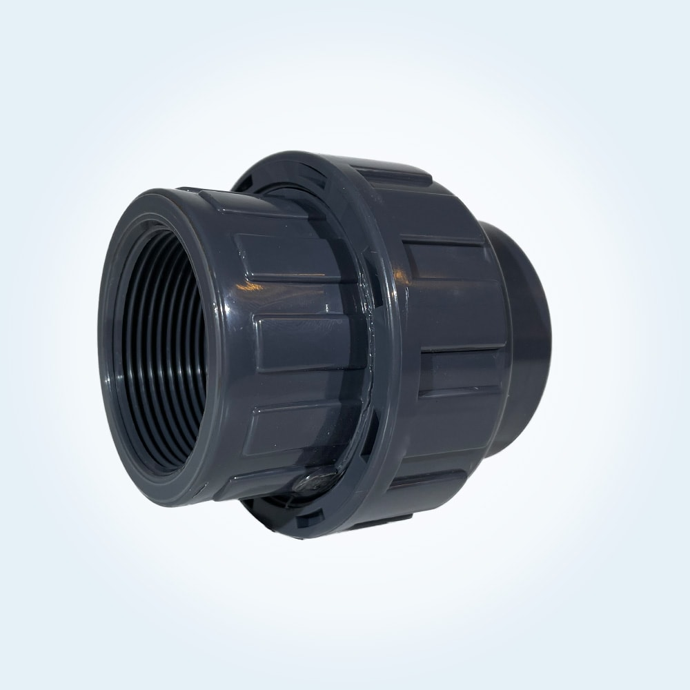 Tryckrör unionkoppling i PVC, 50 mm x 1 1/2 tum (invändig)