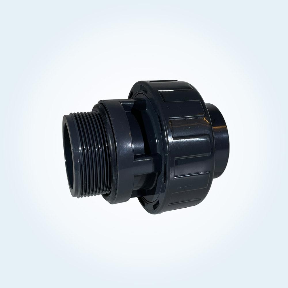 Tryckrör unionkoppling i PVC, 50 mm x 2 tum