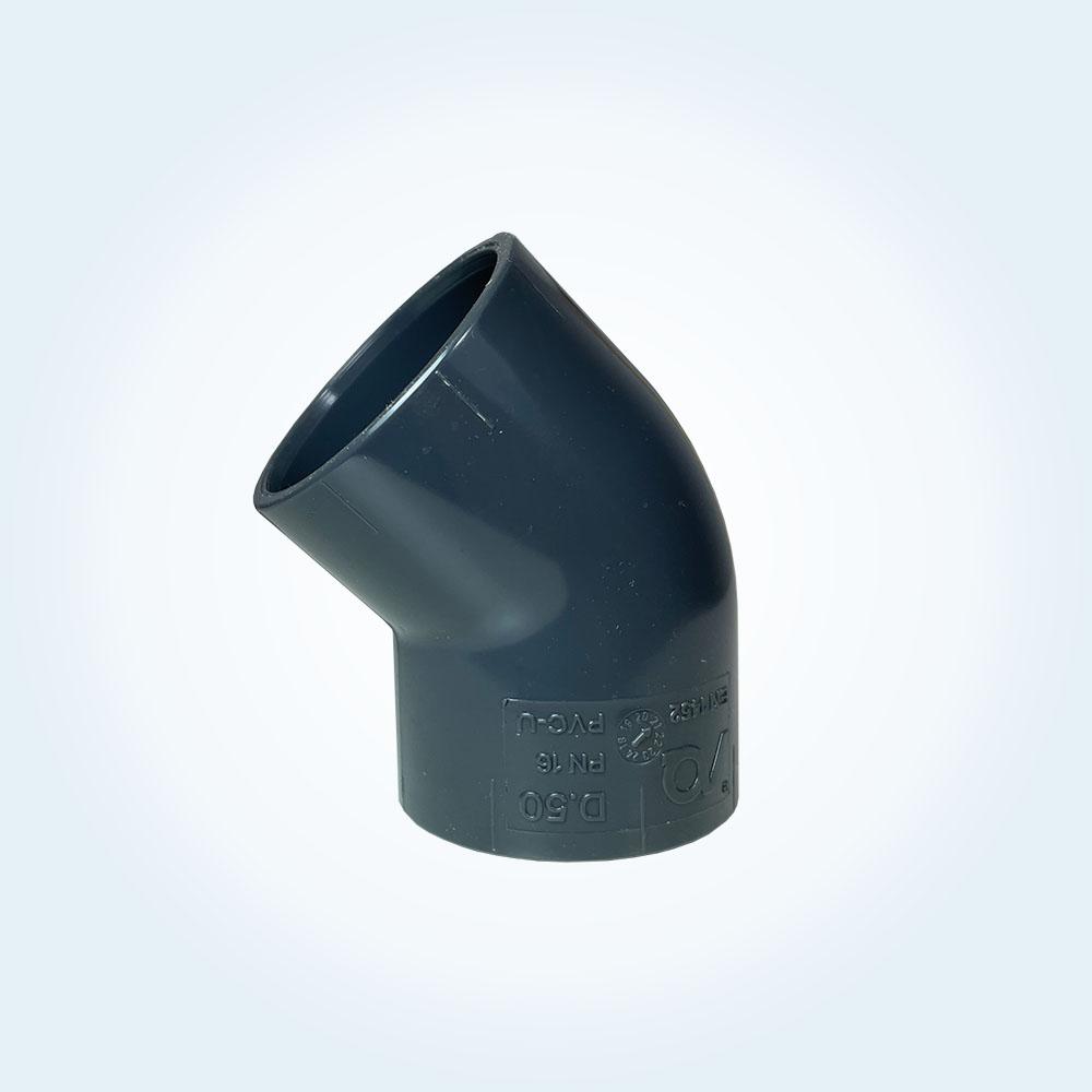 Tryckrör i vinkel, 45 grader