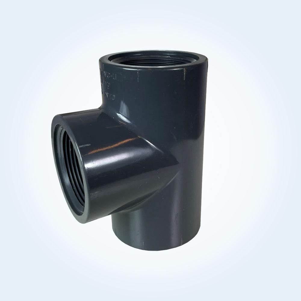 Tryckrör i PVC, T-rör, 1 1/2 tum, gänga
