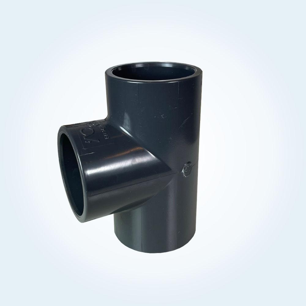 Tryckrör i PVC, T-rör, 50 mm