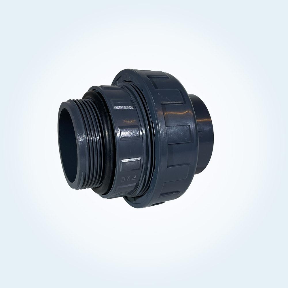 Unionkoppling i PVC, 50 mm x 2 tum utvändig, till VISE-pump