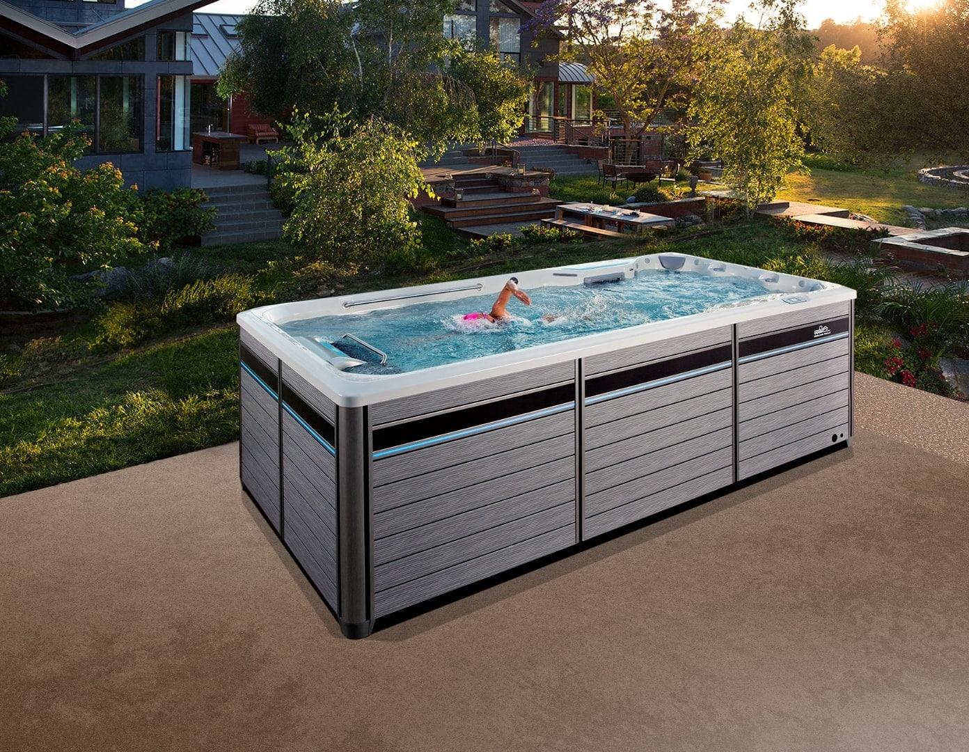 Endless Pools Fitness Systems, E500, White Oak, miljöbild