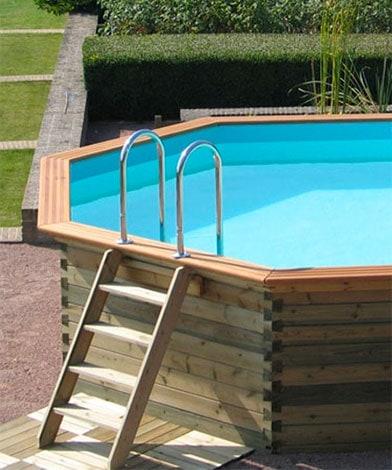Garden pool ovan mark i trädgård, Pool store