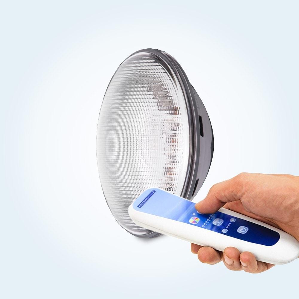 LED-lampa, PAR 56, 1 st RGB (flera färger) med fjärrkontroll
