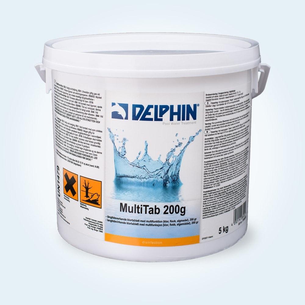 Veckoklor Delphin Multitab, 5 kg