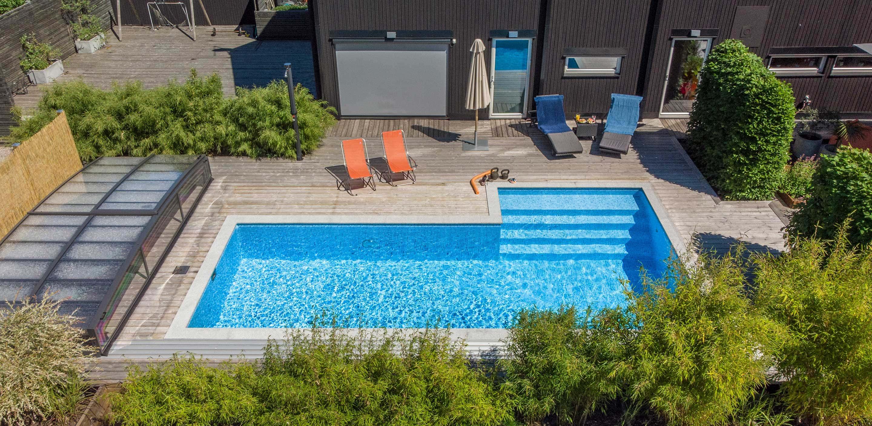 Wikipool, Inför ditt poolköp, flygbild över pool, Pool store