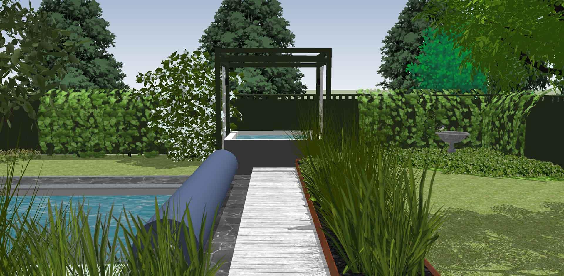 Wikipool, Skapa en oas, ritning över spabad, Pool store